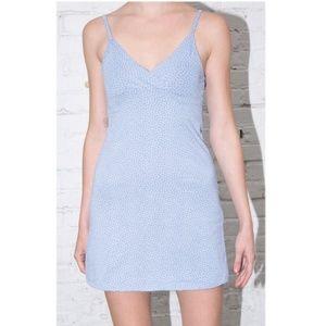 NWT Brandy Melville Amara Dress Blue/White Floral